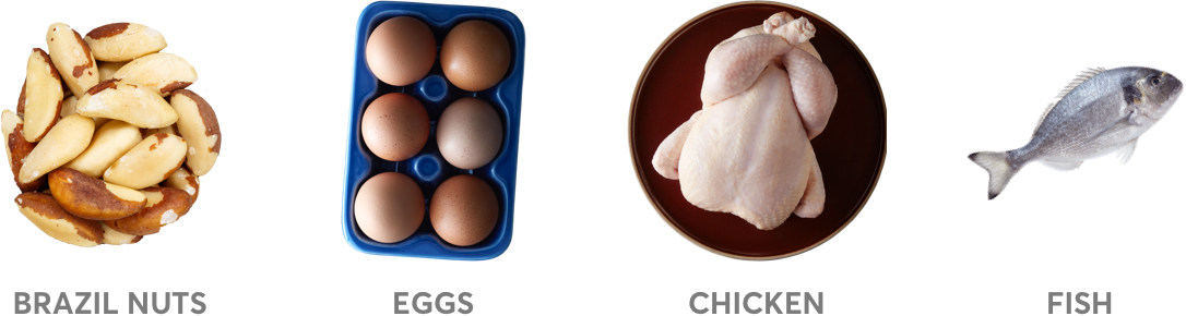 selenium containing foods brazil nuts, eggs, chicken, fish