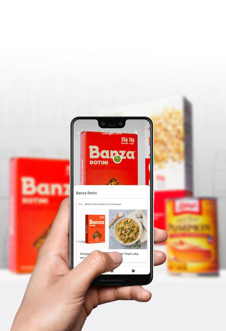 Use Innit to build a google lens experience for your food brand