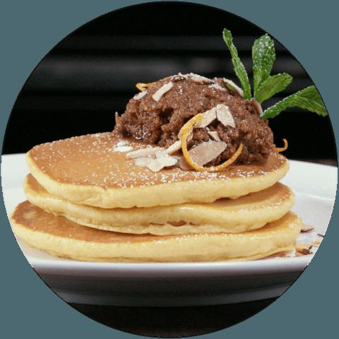 Buttermilk Pumpkin Pancakes with Almond Butter