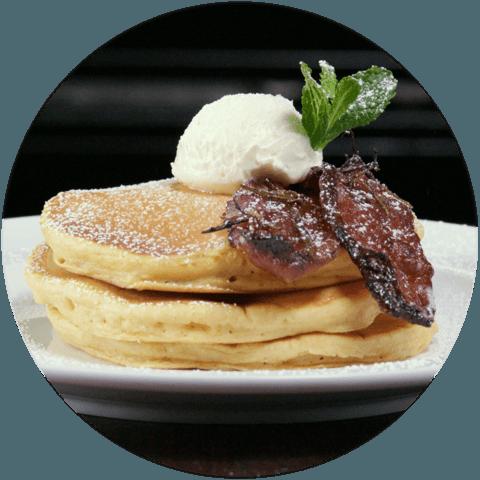 Buttermilk Pumpkin Pancakes with Maple Bacon