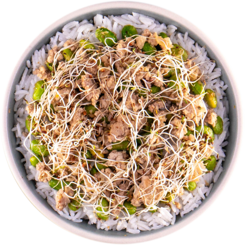 Asian Spiced Turkey with Edamame & UNCLE BEN'S® READY RICE® Jasmine Rice