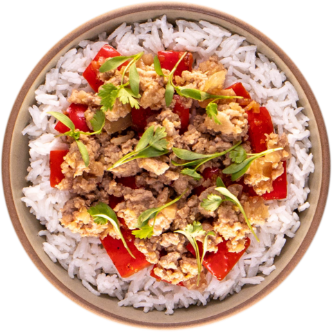 Asian Spiced Turkey with Peppers & UNCLE BEN'S® READY RICE® Whole Grain Brown