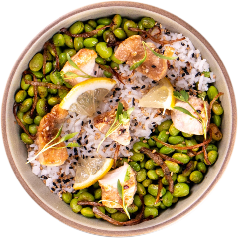 Garlic Chicken with Edamame & UNCLE BEN'S® READY RICE® Original Long Grain