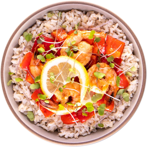 Garlic Shrimp with Bell Peppers & UNCLE BEN'S® READY RICE® Long Grain & Wild