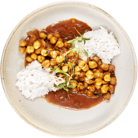 Sweet & Sour Chickpea Curry with UNCLE BEN'S® READY RICE® Jasmine Rice