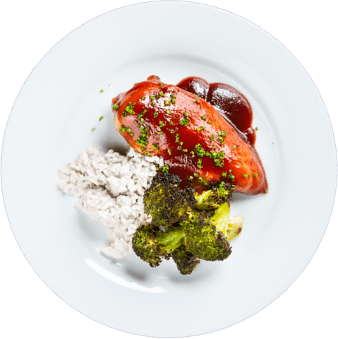 BBQ Chicken with Broccoli & UNCLE BEN'S® READY RICE® Basmati Rice