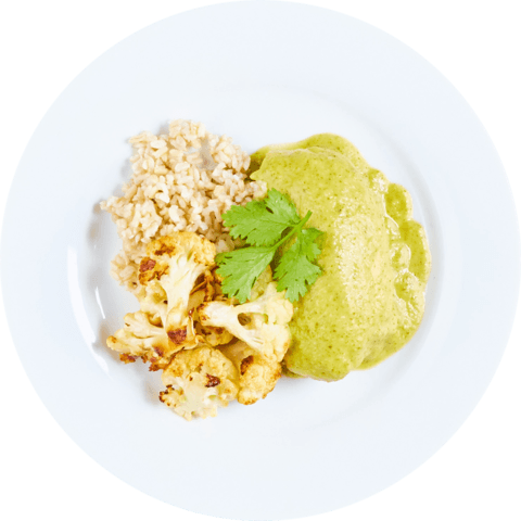 Tomatillo Chicken with Cauliflower & UNCLE BEN'S® READY RICE® Long Grain & Wild