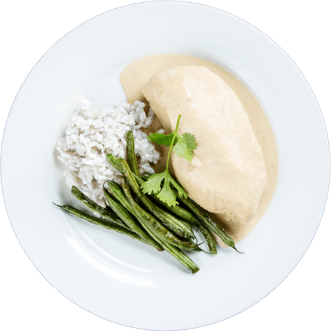 Green Curry Chicken with Green Beans & UNCLE BEN'S® READY RICE® Jasmine Rice