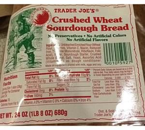 Trader Joe's Crushed Wheat Sourdough Bread