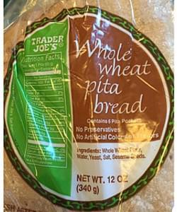 Trader Joe's Whole Wheat Pita Bread