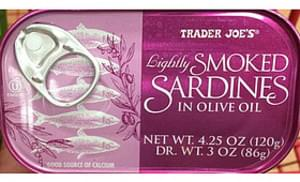 Trader Joe's Lightly Smoked Sardines in Olive Oil