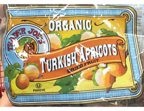 Trader Joe's Organic Turkish Apricots Dried Fruit - 40 g