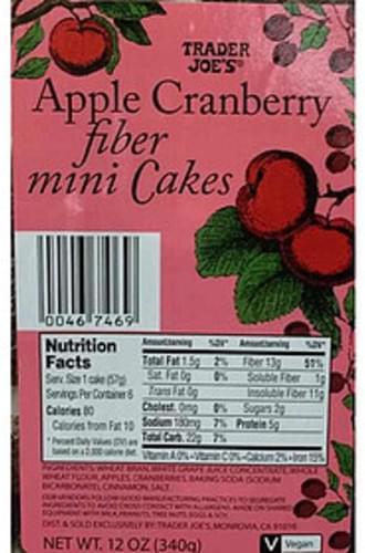 Trader Joe's Apple Cranberry Fiber Mini Cakes - 57 g