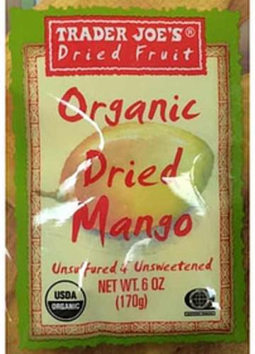 Trader Joe's Organic Dried Mango - 40 g