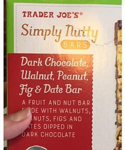 Trader Joe's Dark Chocolate Fig & Date Bar