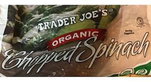 Trader Joe's Chopped Spinach Organic