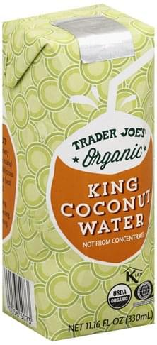 Trader Joes Organic King Coconut Water - 11.16 oz