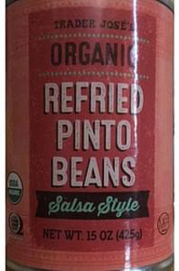 Trader Jose's Organic Refried Pinto Beans Salsa Style