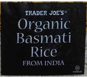 Trader Joe's Organic Basmati Rice