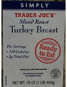 Trader Joe S Sliced Roast Turkey Breast 85 G Nutrition Information Innit