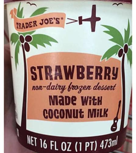 Trader Joe's Strawberry Non-Dairy Frozen Dessert Made with Coconut MIlk - 88 g