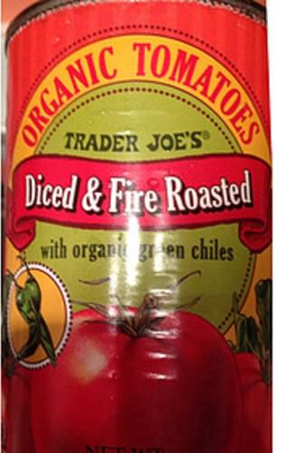 Trader Joe's Diced & Fire Roasted Organic Tomatoes - 120 g