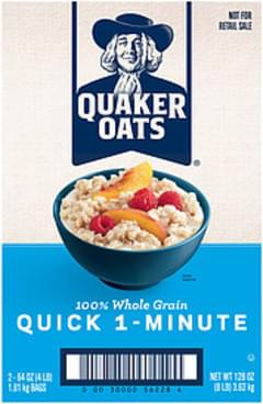 Quaker Oatmeal 100% Whole Grain Quick 1-Minute