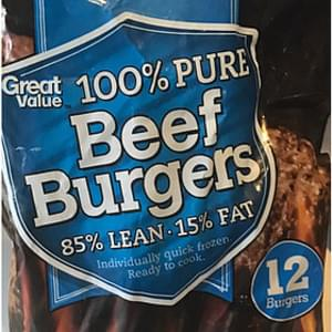Great Value Pure Beef Burger