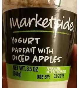 Marketside Yogurt Parfait with Diced Apples