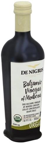 De Nigris Organic, Balsamic Vinegar - 16.9 oz