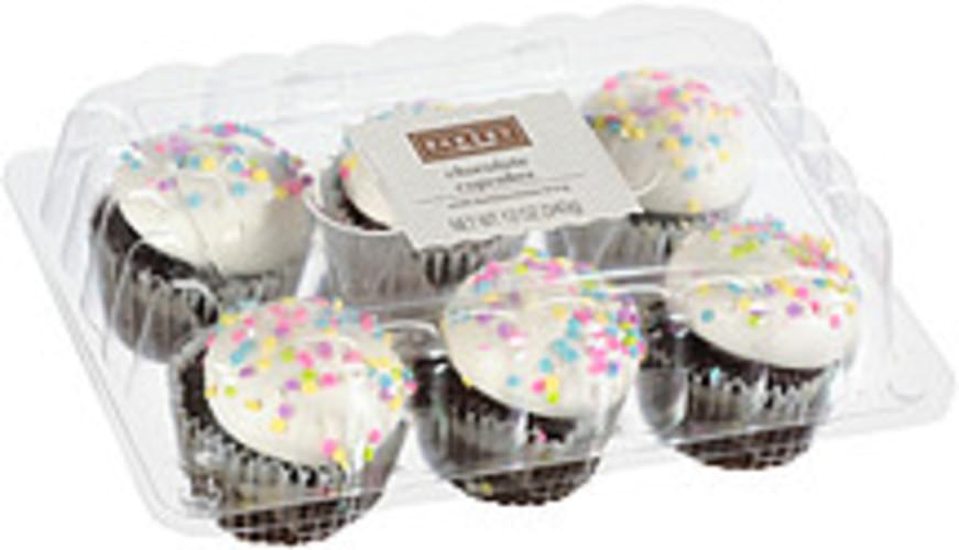 The Bakery At Walmart Chocolate With Buttercreme Icing Cupcakes 6 Nutrition Information Innit