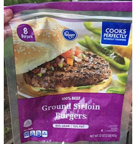 Kroger Ground Sirloin Burgers - 112 g
