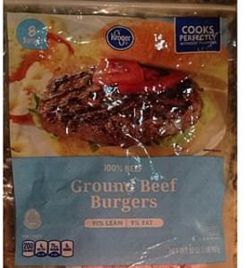 Kroger Ground Beef Burgers