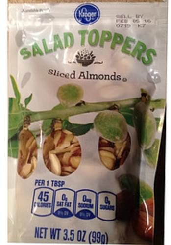 Kroger Sliced Almonds Salad Toppers - 8 g