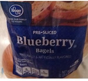 Kroger Pre-Sliced Bagels Blueberry