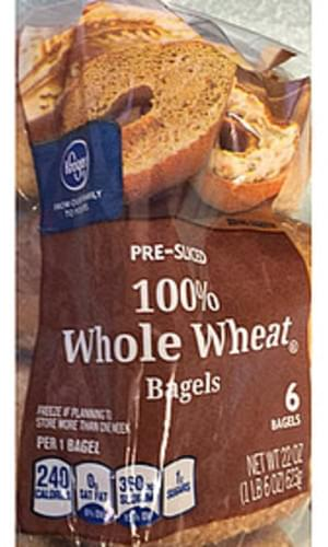 Kroger 100% Whole Wheat Bagels - 104 g