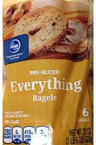Kroger Pre-Sliced Bagels Everything