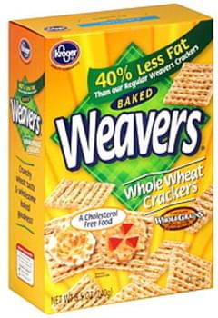 Kroger Crackers Whole Wheat, Baked Weavers
