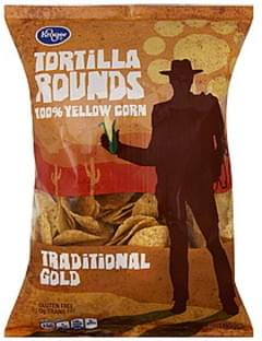 Kroger Tortilla Rounds 100% Yellow Corn, Traditional Gold
