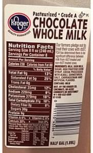 Kroger Chocolate Whole Milk