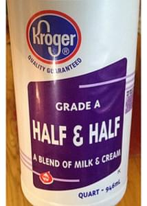 Kroger Grade A Half & Half Blend of Milk & Cream