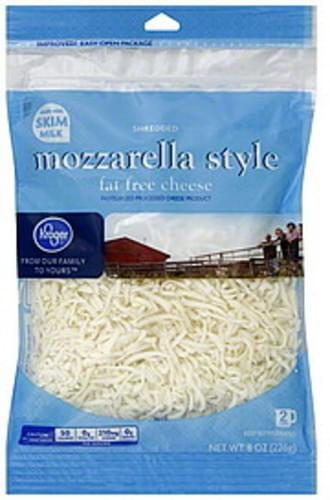 Kroger Mozzarella Style, Fat Free Shredded Cheese - 8 oz