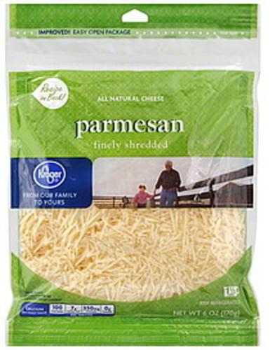 Kroger All Natural, Parmesan Finely Shredded Cheese - 6 oz