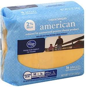 Kroger Cheese Product Singles, American, 2% Milk Reduced Fat