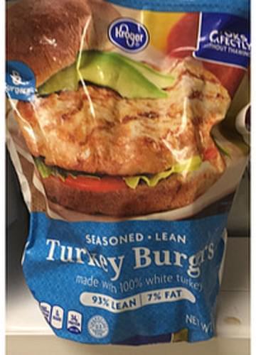 Kroger Turkey Burgers - 151 g