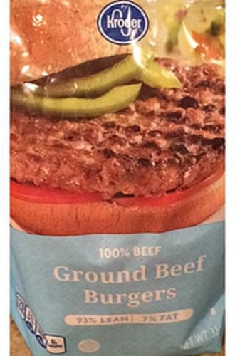 Kroger Ground Beef Burgers - 0 g
