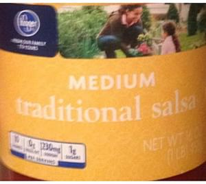 Kroger Medium Traditional Salsa