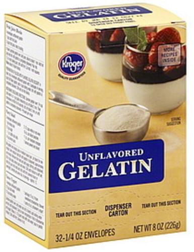 Kroger Unflavored Gelatin - 32 ea