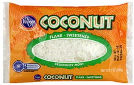 Kroger Coconut Flake, Sweetened