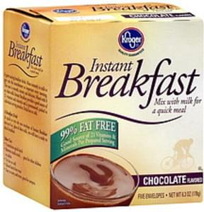 Kroger Instant Breakfast Mix Chocolate Flavored